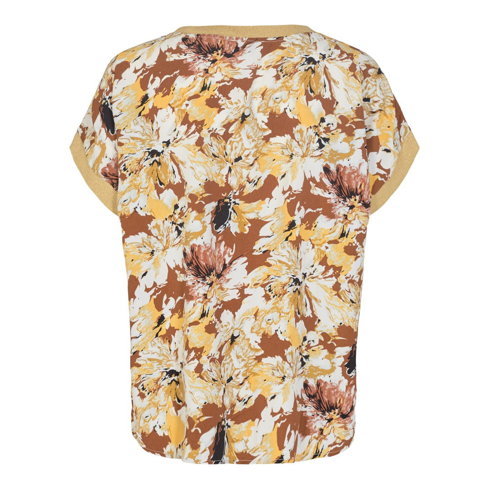 Load image into Gallery viewer, MYNTE-BLOUSE - OFF WHITE/BROWN