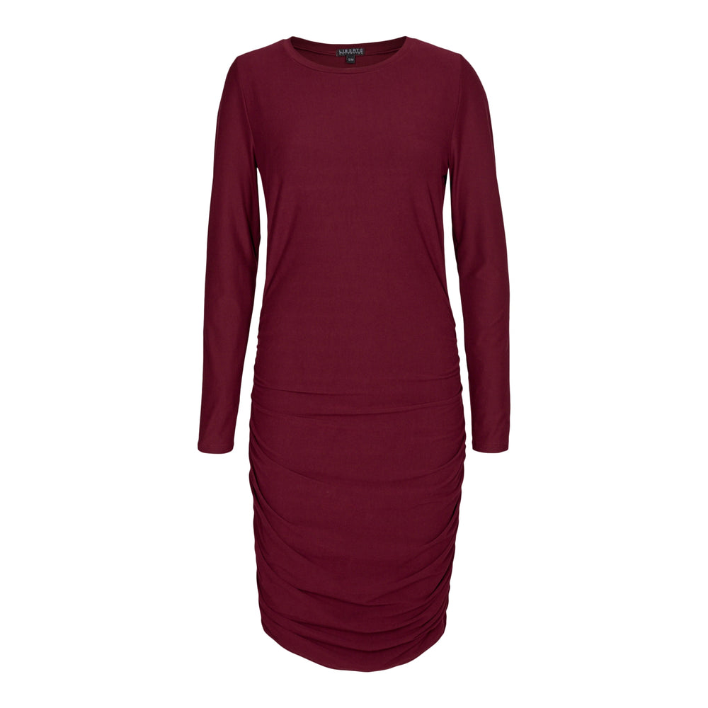 ALMA-LONG-DRESS - BURGUNDY