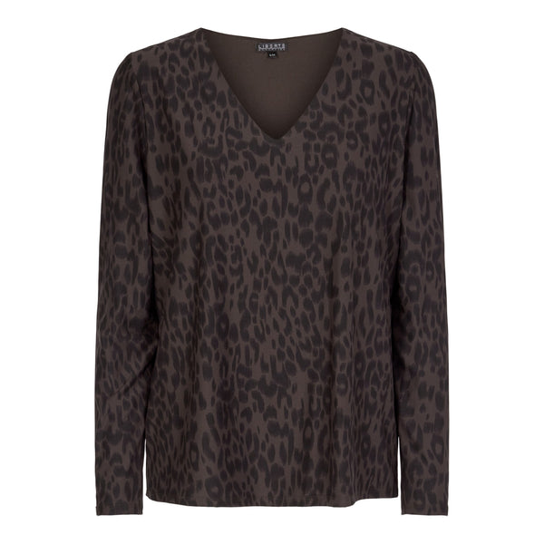ALMA-V-NECK - LEO/COFFEE