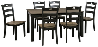 Froshburg Dining Room Table and Chairs Set of 7