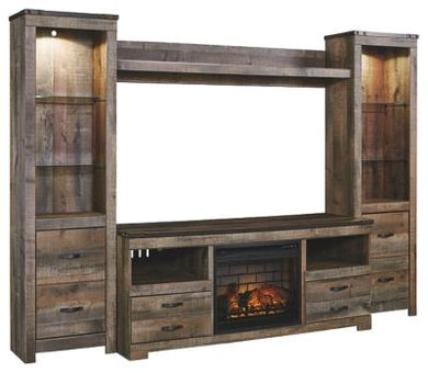 Trinell 4Piece Entertainment Center with Electric Fireplace
