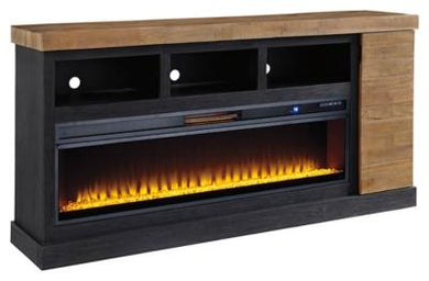 Tonnari 74 TV Stand with Electric Fireplace