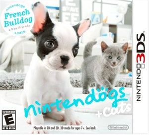 3DS - Nintendogs + Cats: French Bulldog - NTSC