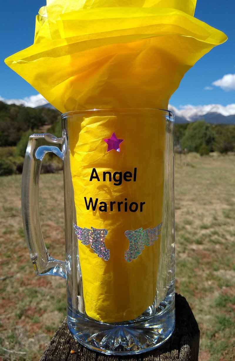 "Gaia's Glasses Sparkle Dream Collection- ""Angel Warrior"" Mug"