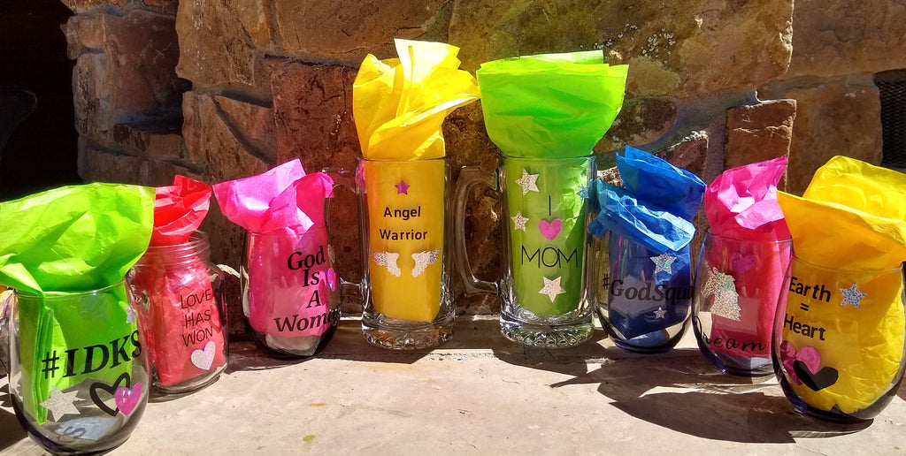 "Gaia's Glasses Sparkle Dream Collection- ""Angel Warrior"" Mug - Gaia's Whole Healing Essentials"