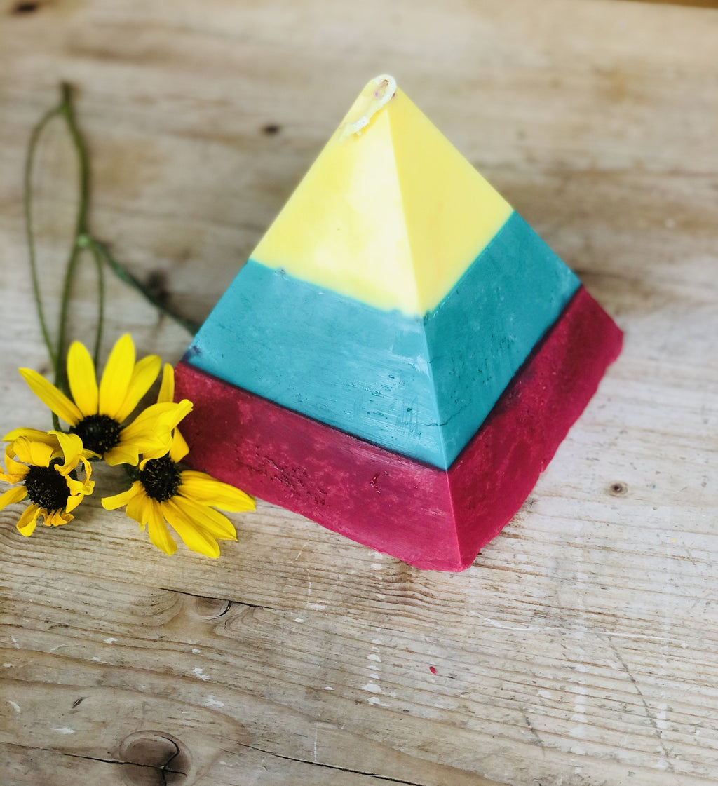 Gaia's Healing Pyramid Candles