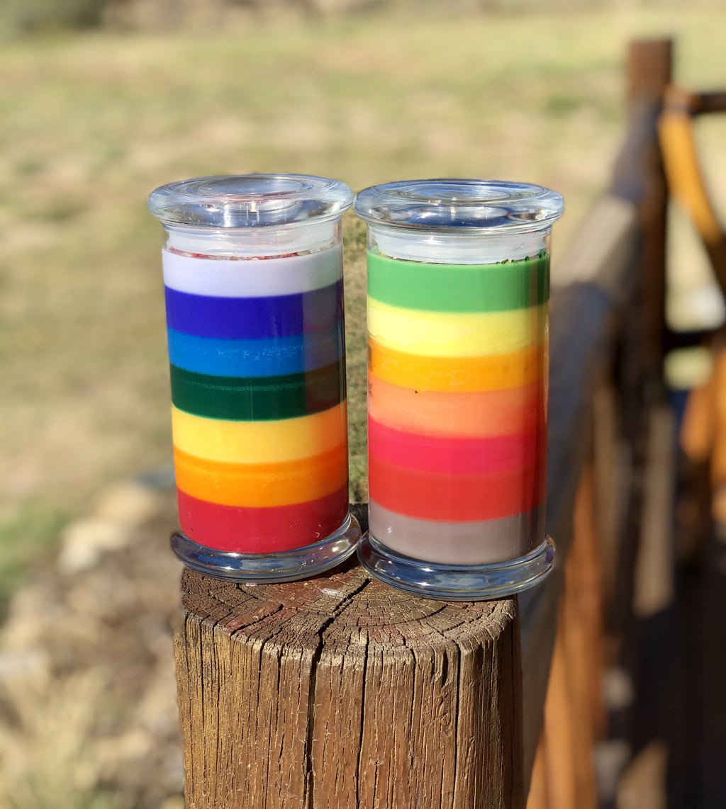 Rainbow Chakra Candle - Gaia's Whole Healing Essentials