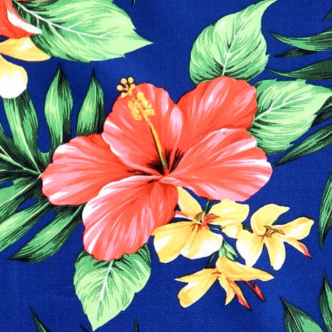 Red Hibiscus on Fabric