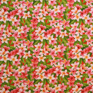 Red Plumeria Floral Shower Gift Wrap Cloth | Small & Large