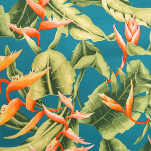 Birds of paradise print fabric
