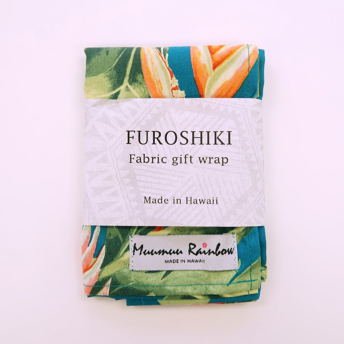 Birds of Paradise Floral Print Gift Wrap Furoshiki | Eco Wrapping Cloth Small