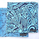 Load image into Gallery viewer, Blue Hawaiian Fabric Gift Wrap Furoshiki | Eco Wrapping Cloth Small