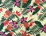 Load image into Gallery viewer, Pineapple & Birds of Paradise Hawaiian 100% Cotton Fabric-Yellow C245Y