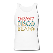 Load image into Gallery viewer, Gravy Disco Beans Women's Longer Length Fitted Tank - Gravy Disco Beans