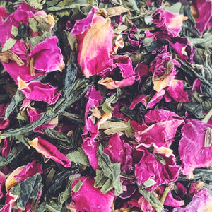 GLOW - Rose and mint green tea