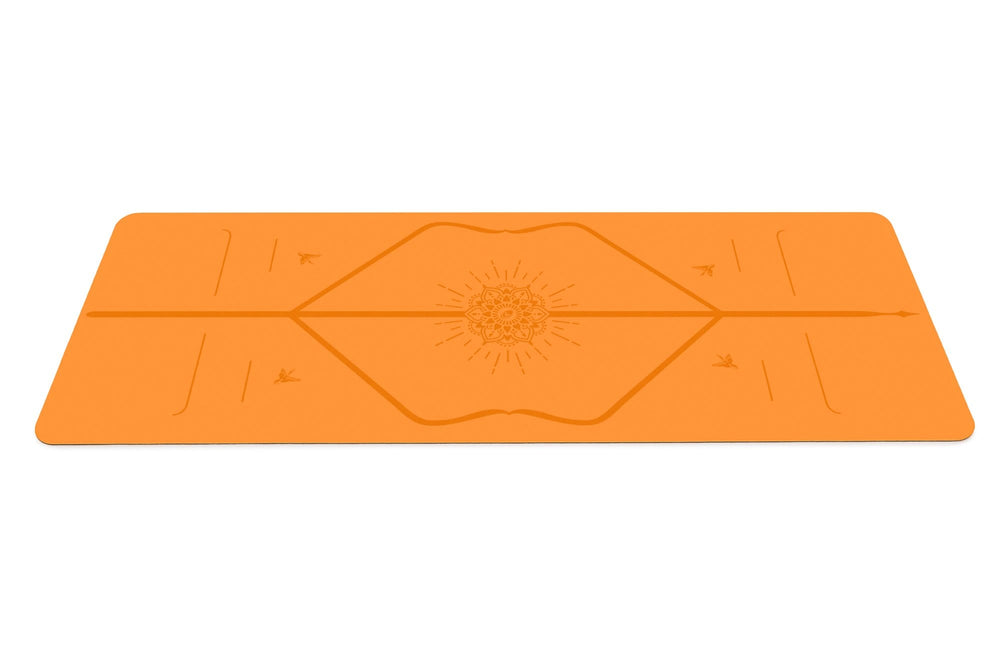 Liforme Happiness Travel Mat - Vibrant Orange image 2