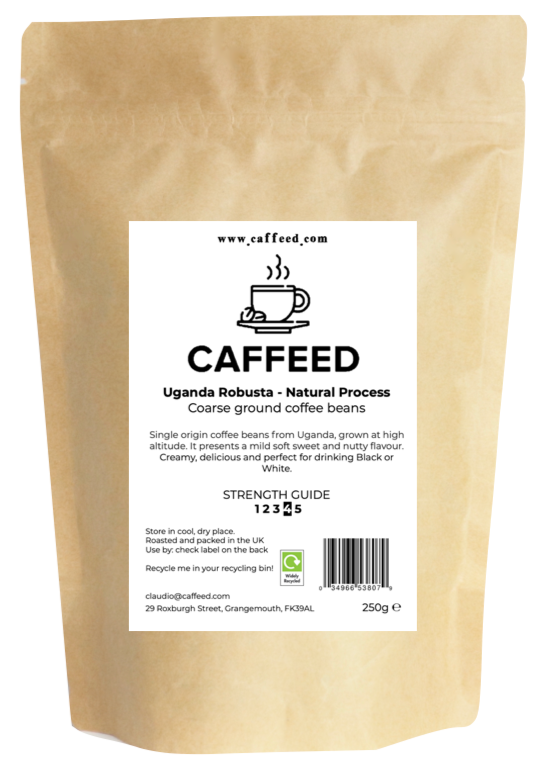 Uganda Robusta - Single Origin Coffee - Caffeed