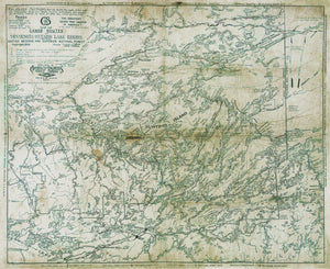 Greggar's Map - 1928 Canoe Country