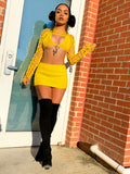 YELLOW RULES SKIRT