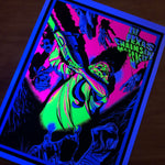 Texas Chainsaw Blacklight Poster