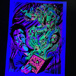 """Reading Rainbow"" BlackLight Poster"