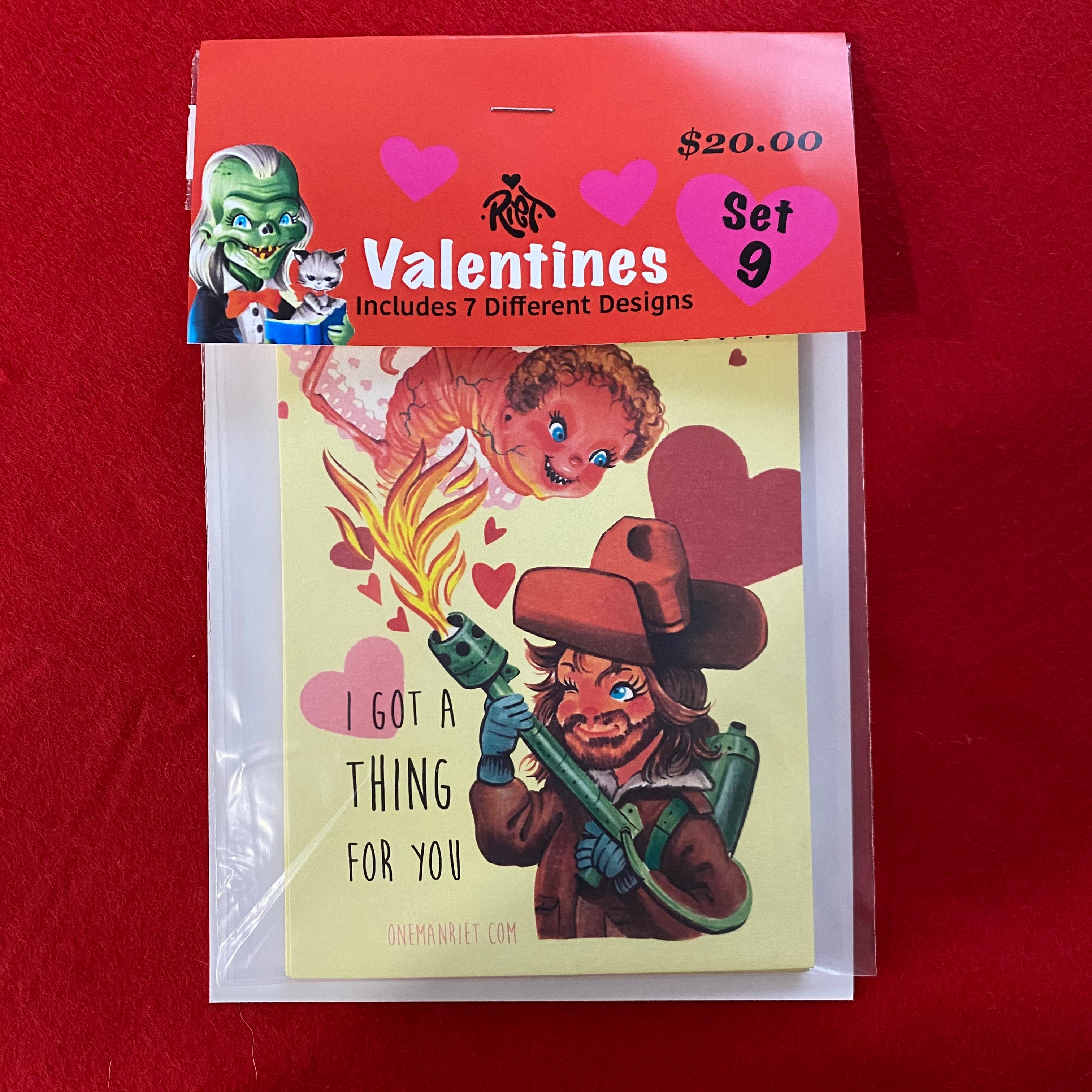 Set 9: Horror Valentines Cards