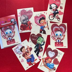 Set 3: Horror Valentine Cards