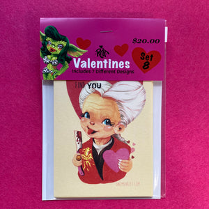 Set 8: Horror Valentine Cards