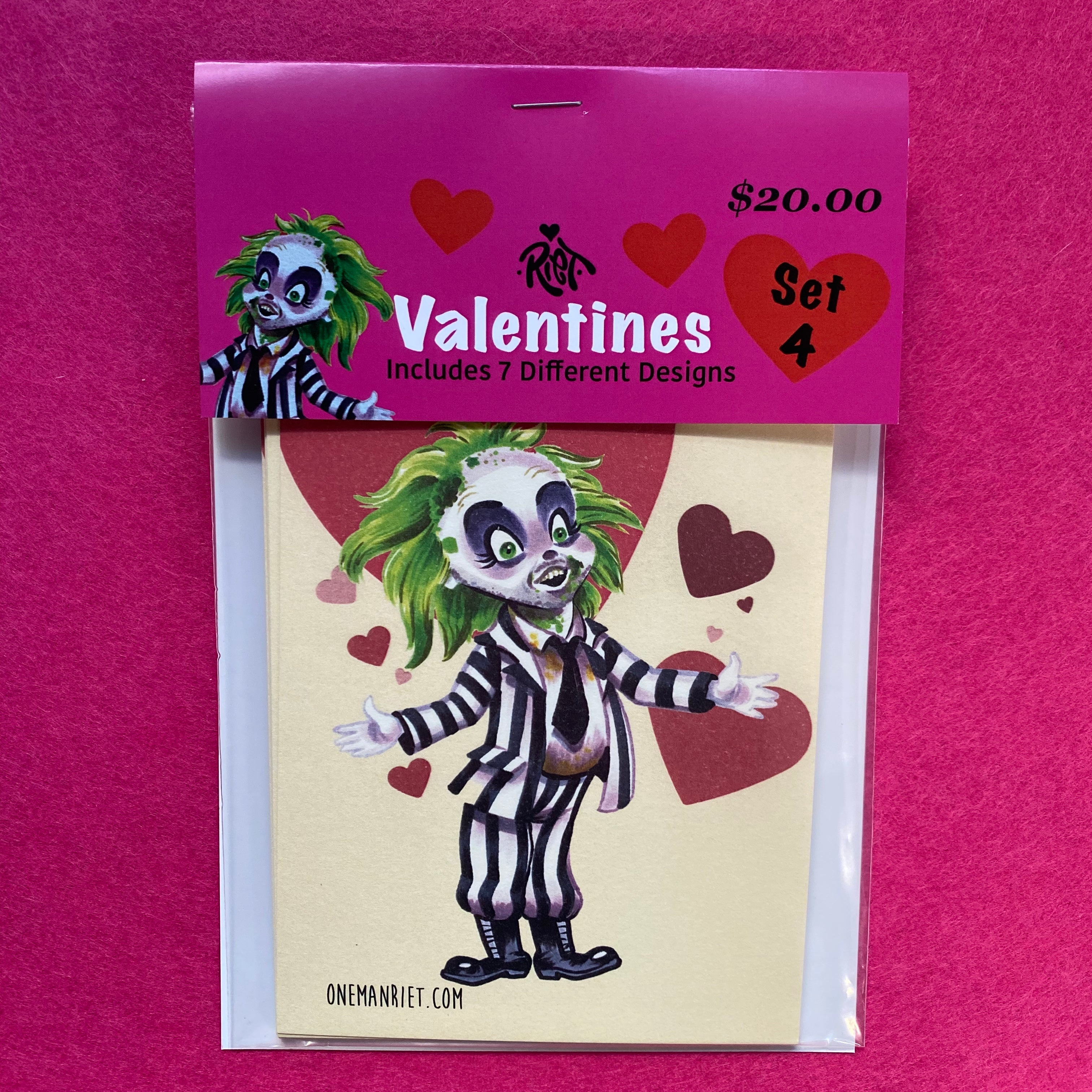 Set 4: Horror Valentine Cards