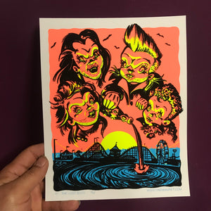 Lost Boys Blacklight Print