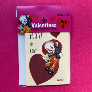 Set 2: Horror Valentine Cards