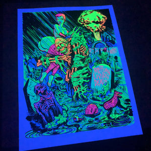 """Cemetery Party"" Blacklight Poster"