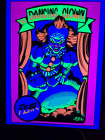 Clown Blacklight Poster