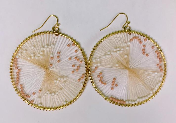 Blush White Dream Catcher Earrings