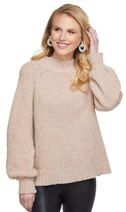 Blush Lurex Shimmer Sweater