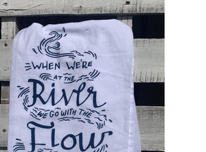 River Flow Tea Towel