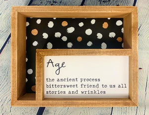 Age Inset Wooden Sign