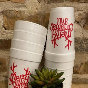 Merry Christmas Y'all Antler Cups