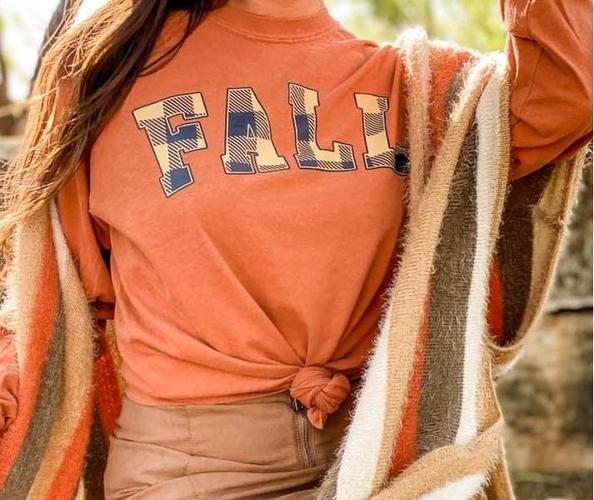 Orange FALL Long Sleeve Tee
