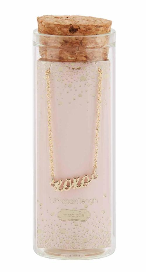 XOXO Word Necklace Gold