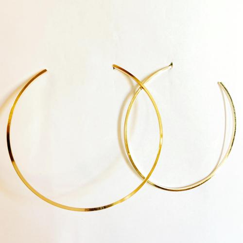 Large Gold Open Hoop