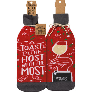 Bottle Cover Toast to the Host