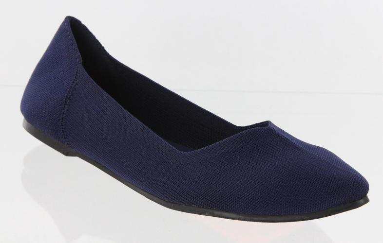 Navy Kerri Fly Knit Flats