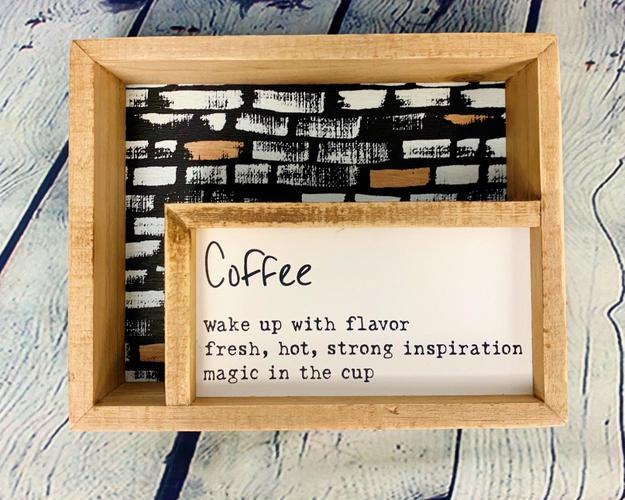 Coffee Inset Box Sign