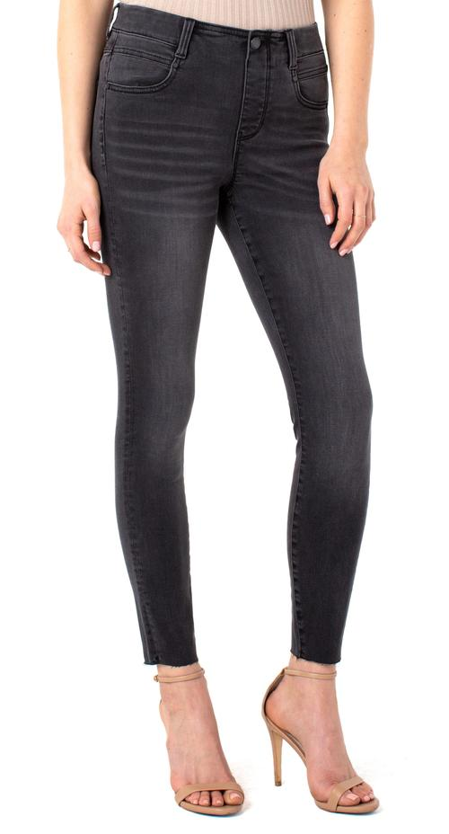 Gia Ankle Skinny Faded Black Pull On by Liverpool