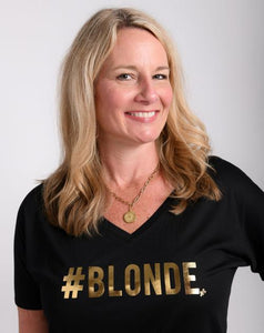 #Blonde V-Neck Soft Tee