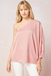 Pink Blush One Shoulder Blouse