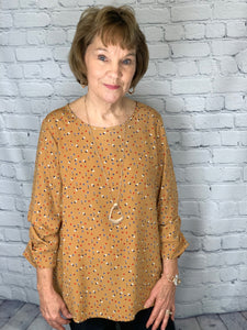 Mustard Speckled Blouse