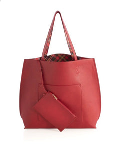Holly Reversible Tote Red