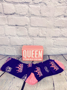 Queen Sign w/Socks